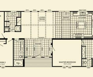 Yates Modular Home floor plan
