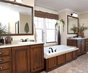 Bathroom from modular house model Adirondack
