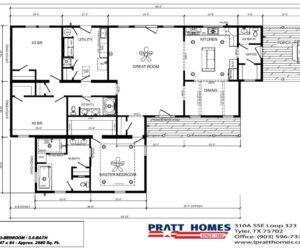 Floorplan of the house model Carlton