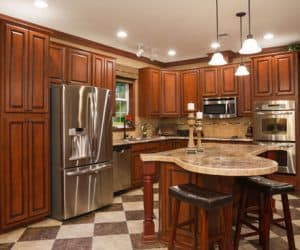 Freedom Modular Home furnished kitchen