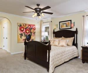 Hampton Modular Home bedroom by Pratt from Tyler Texas