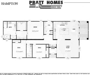 High Sierra Modular Home floorplan