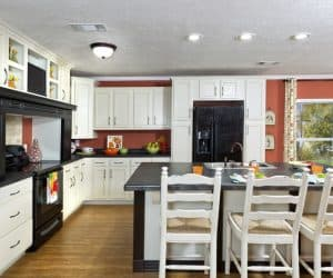 Hampton Modular Home kitchen area by Pratt from Tyler Texas