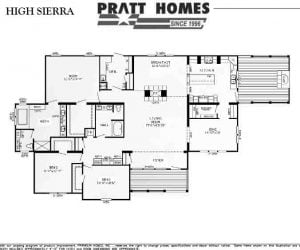 Happy Valley Modular Home floorplan made by Pratt from Tyler Texas