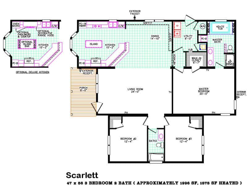 Floor Plan from house model Scarlett