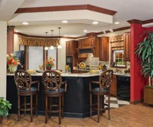 Scarlett Modular Home kitchen with dining area made by Pratt