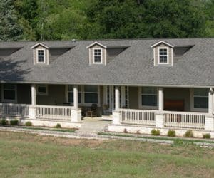 Schell Modular Home esterior made by Pratt from Tyler Texas