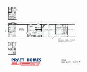 1676B manufactured home model from Pratt Modular and Manufactured Homes