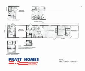 Home model 1676c is great starter home at a great price
