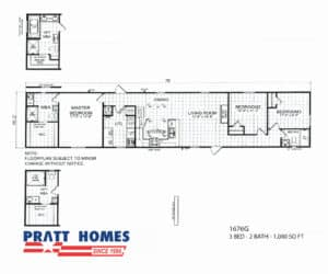Home model 1676G would be a perfect starter home or even a retirement home
