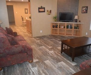 Living room from the house model 1676B from Pratt Homes offer