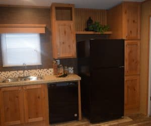 Kitchen appliances from the house model 1676B from Pratt Homes offer