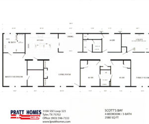 Floor plans for Home model Scott'sBay made by Pratt