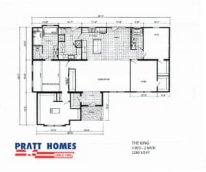 Floor plan for home model The King made by Pratt Homes