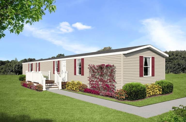 Exterior of house model 1676B from Pratt Homes