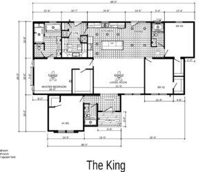 Floorplan of the house model King