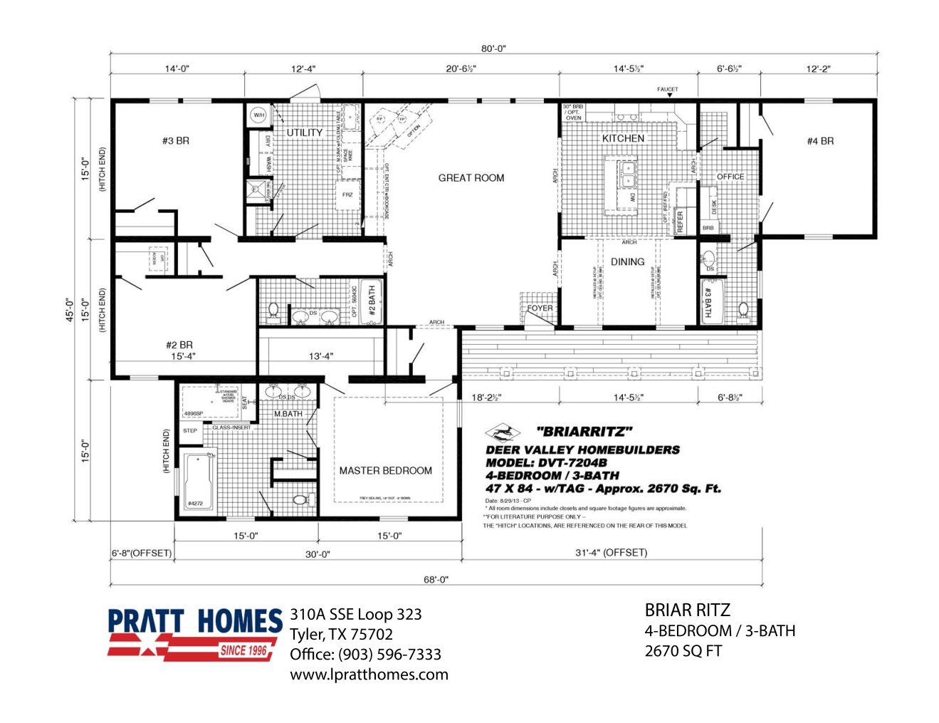Floor Plan for house mode Briar Ritz