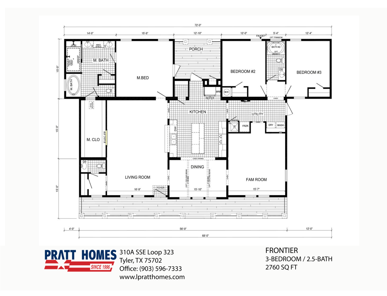 Floor Plan for house model Fronter