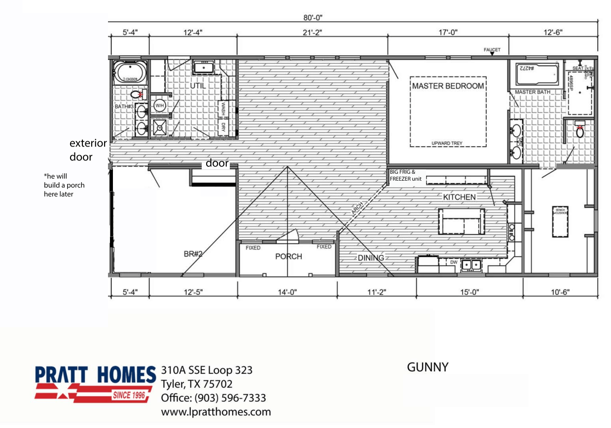 Floor Plan for house model Gunny