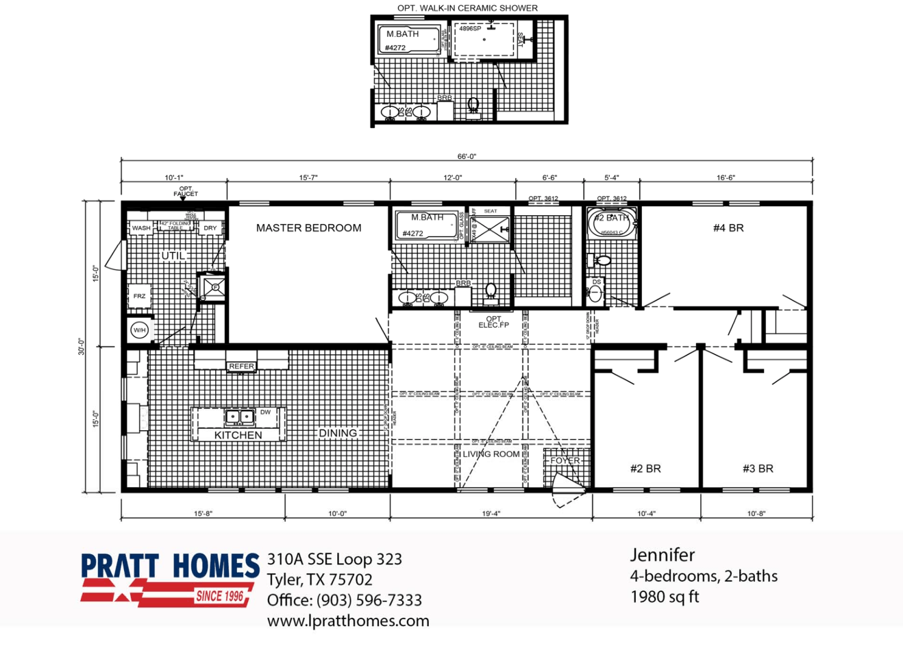Floor Plan for house model Jennifer