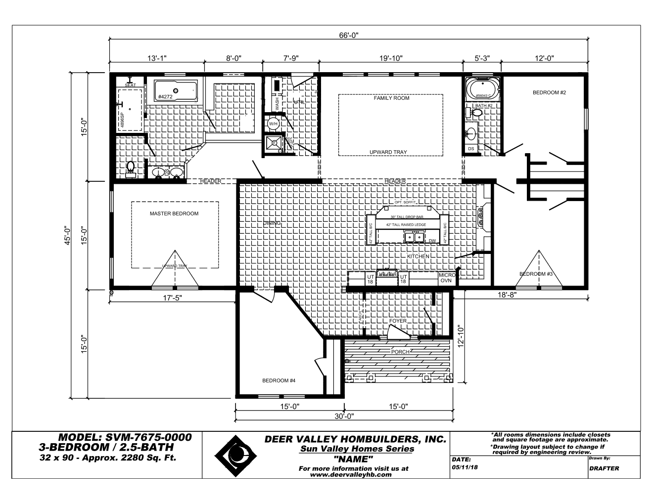 Floor Plan for house model Johnson