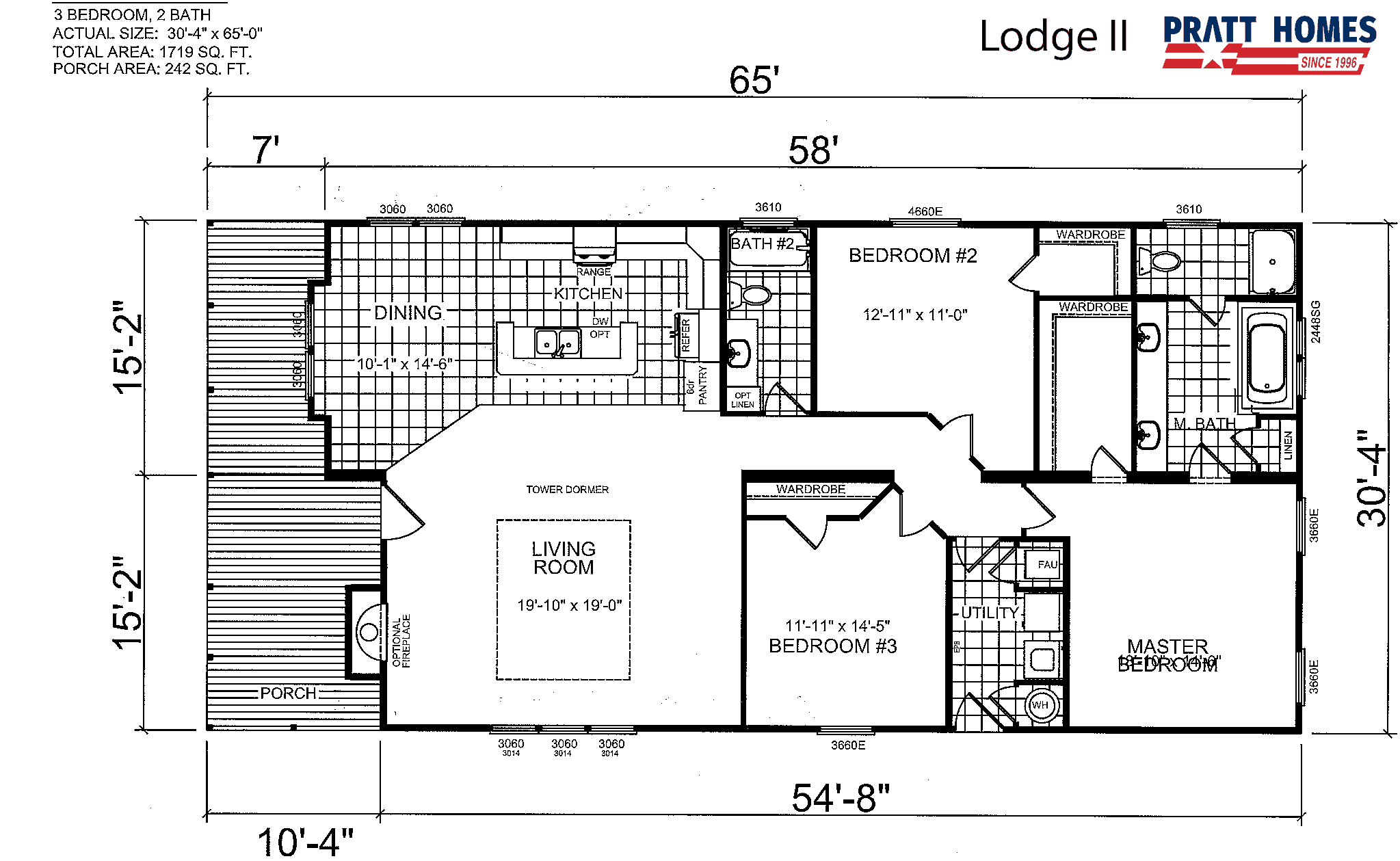 Floor Plan for house model Lodge