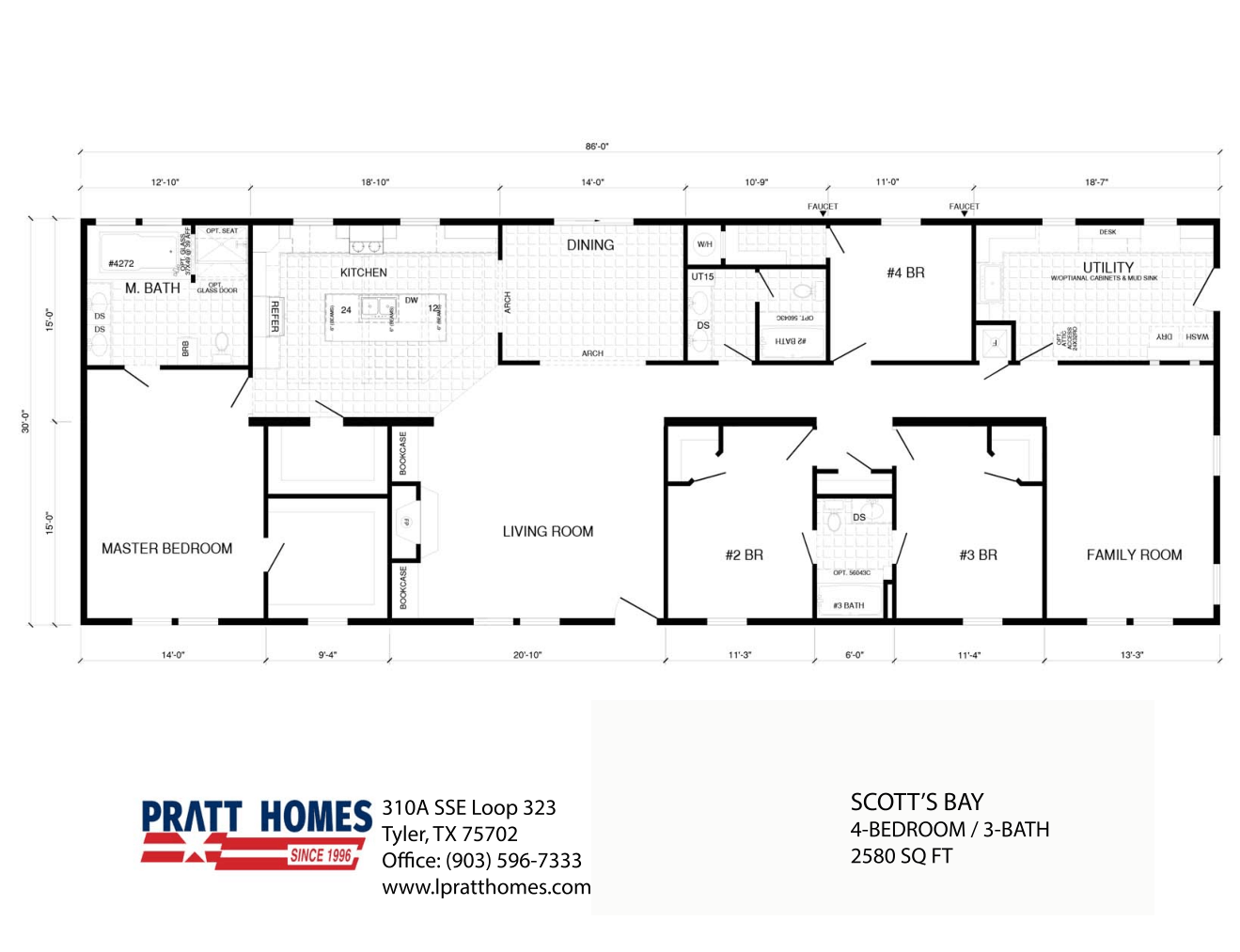 Floor Plan for house model Scott'sBay by Pratt from Tyler Texas