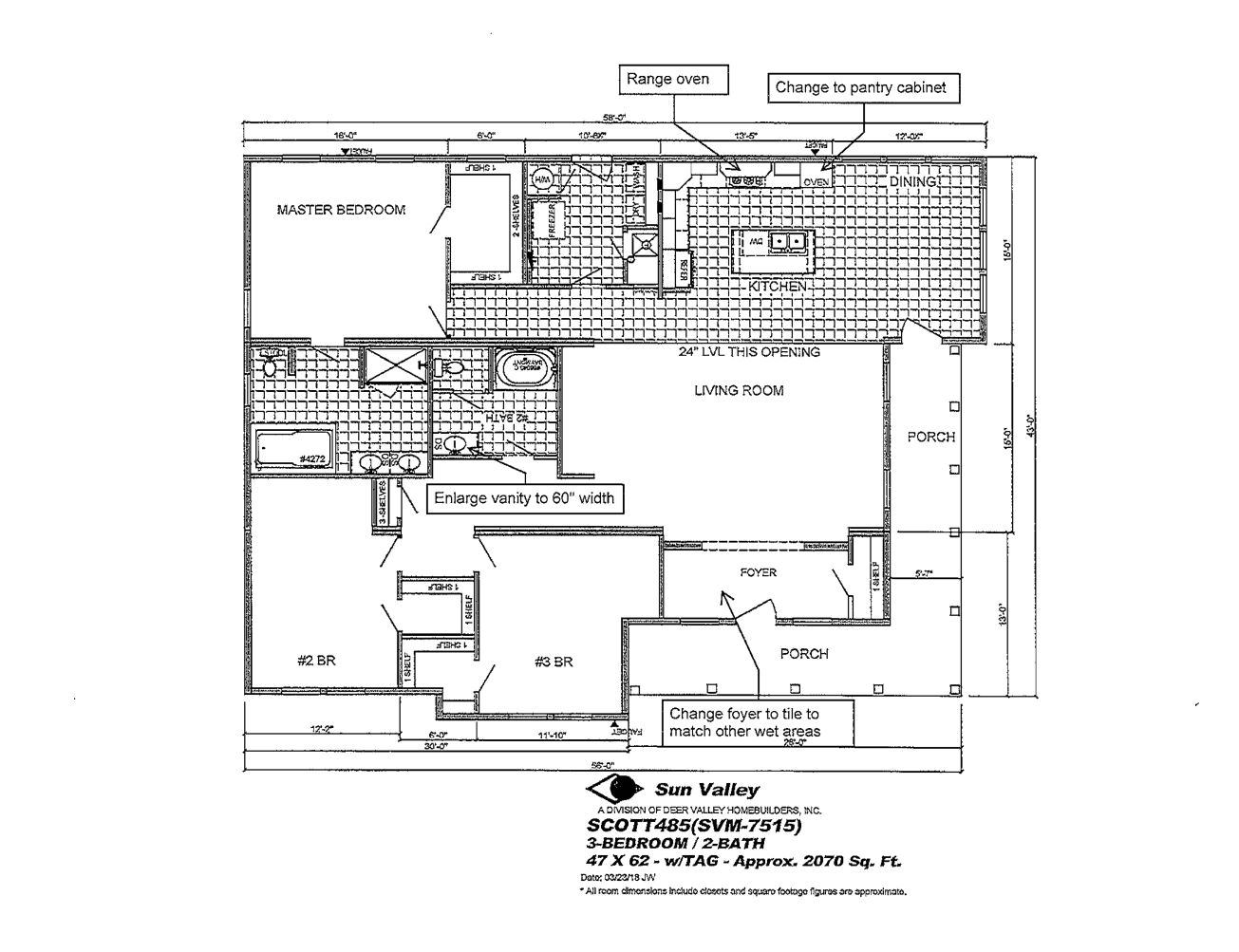 Floor Plan for house model Sequoia by Pratt from Tyler Texas