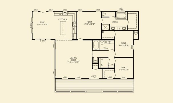 Floor Plan for house model Willow by Pratt