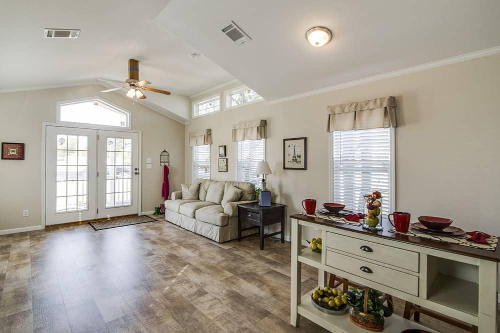 Living room of house model CC1207 made by Pratt from Tyler Texas