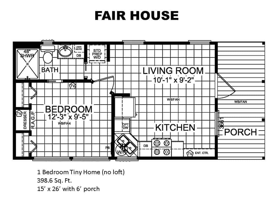 Floor Plans for house model Fair made by Pratt from Tyler Texas