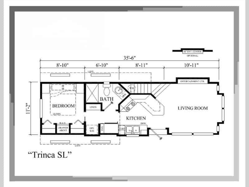 Floor Plan from the house model Trinca made by Pratt
