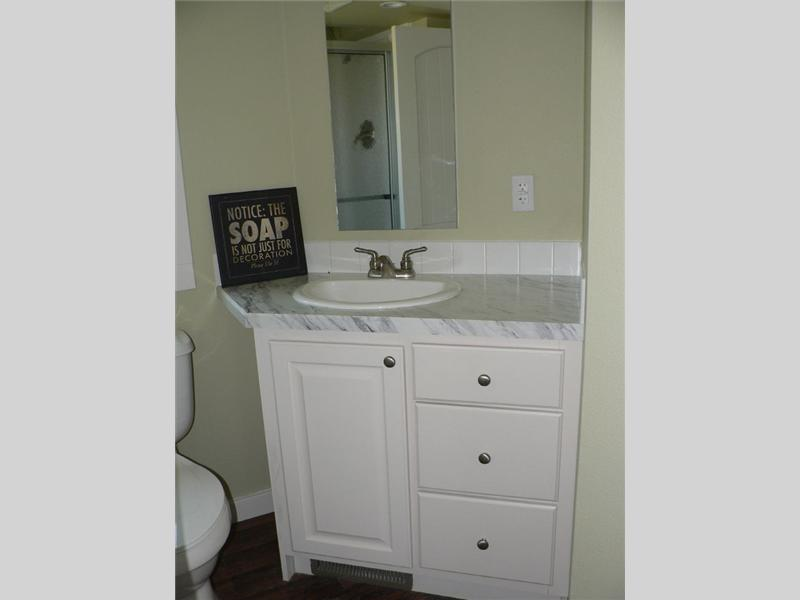 Bathroom interior from the house model Trinca made by Pratt