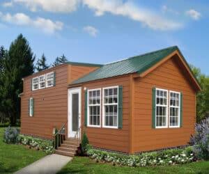 Exterior of house model Arrowhead Lodge made by Pratt