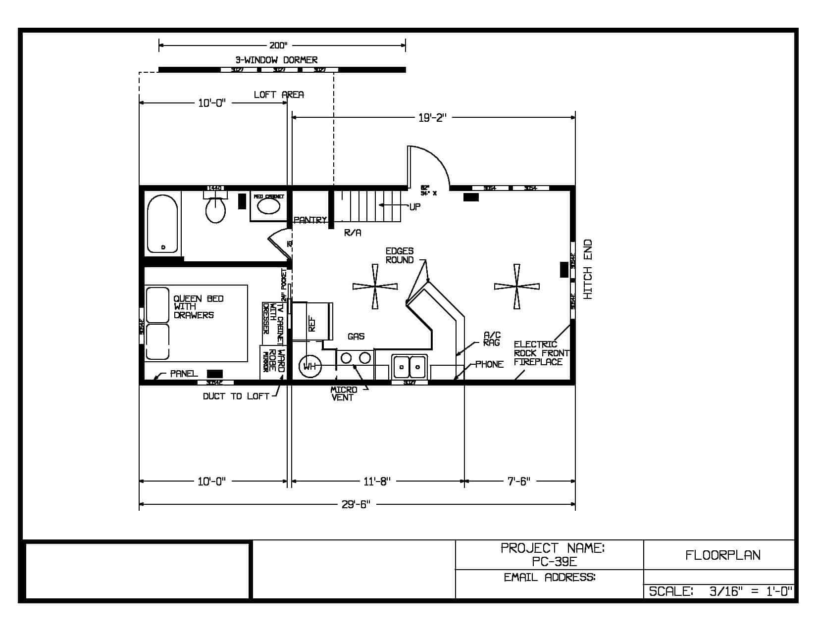 Floor Plan for the house model Arrowhead Lodge made by Pratt from Tyler Texas