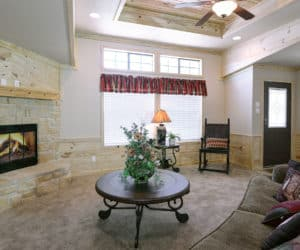 Spacious Living Room from house model Lodge made by Pratt from Tyler Texas