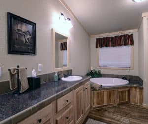 Master Bath from house model Lodge made by Pratt from Tyler Texas