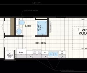 Floor plan for the house model Elizabeth
