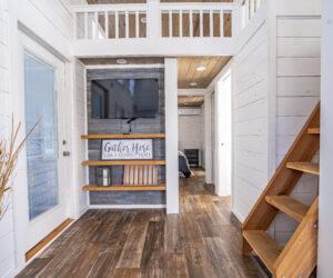 Entryway to a Pratt Homes model Jackson