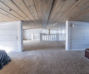 Spacious loft area in a Pratt Homes model Jackson