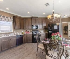 Furnished kitchen from house model Broadway