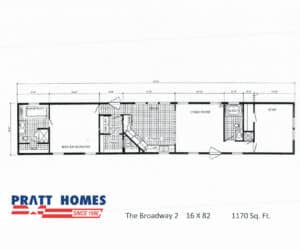 Floor plan for home model Broadway made by Pratt Homes