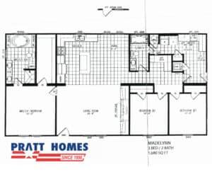 Plan for home model Madelynn from Pratt Homes