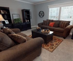 Living Room from house model Madelynn made by Pratt