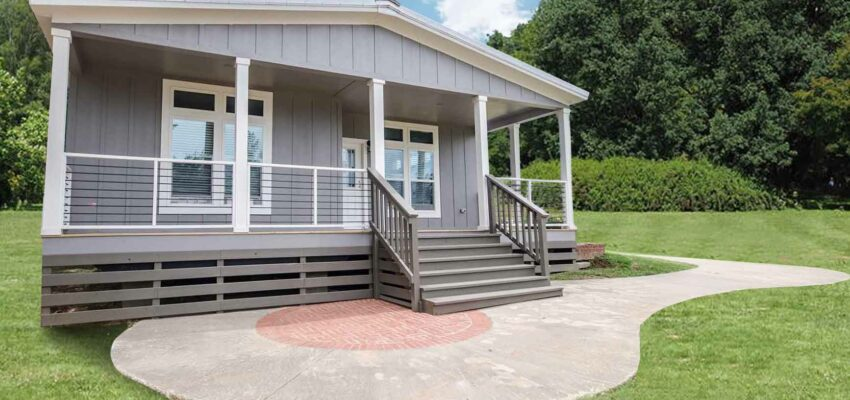 Exterior of the Pratt Homes Wooden Model Lodge 3