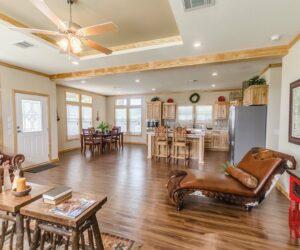 Furnished living room from Pratt Homes Model Lodge 3