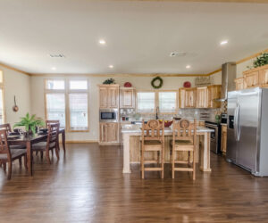 Wooden kitchen details from Pratt Homes Model Lodge 3