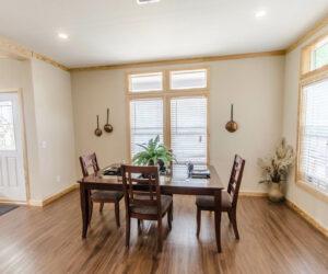 Dining room from Pratt Homes Wooden Model Lodge 3