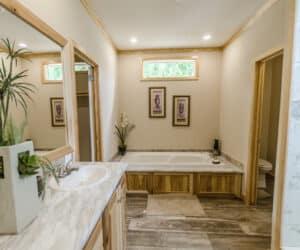 Bathtub in Pratt Homes Model Lodge 3