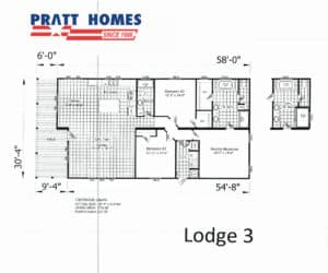 Plan for home model Lodge3 from Pratt Homes